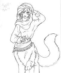 aygul the snow leopard centaur sketch by blue starr on deviantart