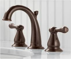 kitchen faucets bronze finish delta 3575lf rb leland two handle widespread bathroom faucet