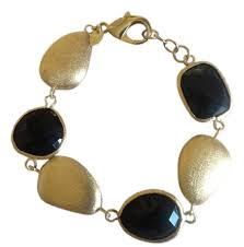 rivka friedman bracelet rivka friedman gold black 18k onyx station bracelet tradesy