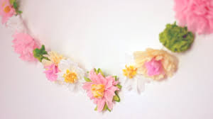 diy paper flower garland cute u0026 happy home decor ideas youtube