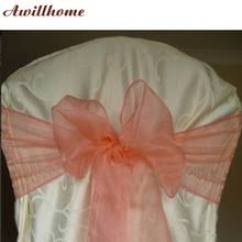 popular coral chair sashes buy cheap coral chair sashes lots from