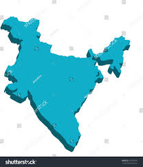 India On A Map Map India 3d On White Background Stock Vector 425763331 Shutterstock