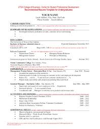 undergraduate curriculum vitae exle resume template for undergraduate students
