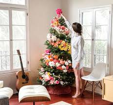 use flowers to decorate their trees and it s