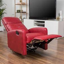 Red Club Chair Leather Club Chair Ebay