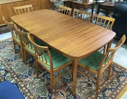 vrigstad antikcenter swedish dining table and 8 chairs 1950 60 u0027s