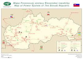 Grid Map Slovak Electricity Transmission System Plc