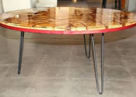 round hairpin coffee table round table hairpin legs dining table hairpin legs coffee tables