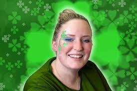 easy shamrock face paint for st patrick u0027s day party delights blog