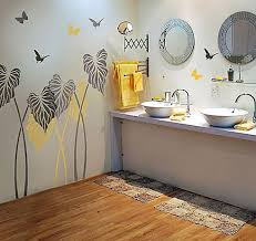 Bathroom Wall Stencil Ideas The Kind Of Flower Wall Stencils For Painting To Give Your House