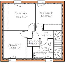 plan maison etage 3 chambres plan maison 3 chambres vue avant modle de base with plan