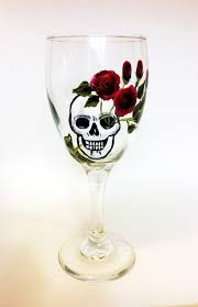 wine glass birthday skull wine glasses skull art dia de los muertos all souls day