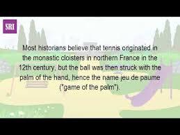when was tennis made
