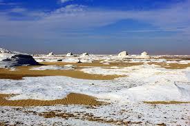Snow In Sahara White Desert Sahara El Beyda A Photo From New Valley Inland