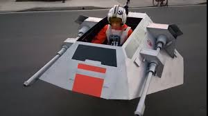 dad transforms son u0027s wheelchair star wars snowspeeder costume