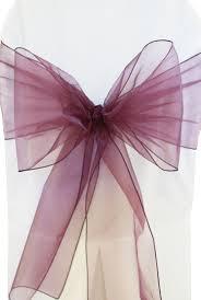 chair ties plum organza chair sashes bows ties wholesale