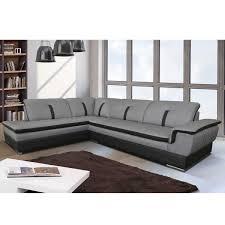 canape d angle noir canapé d angle gauche en tissu gris et pvc noir viper dya shopping fr