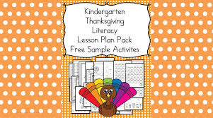 thanksgiving lesson plans for kindergarten books activities