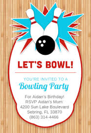 bowling party free printable birthday invitation template