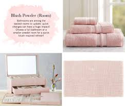 Powder Room Towels Ring Around The Rosé Blush The Color Of Love Pottery Barn