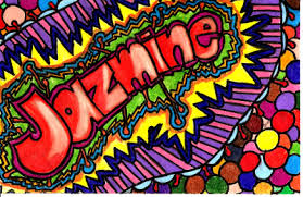 pattern art name jazmine s the name teen art photo about abstract name art and