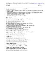 View Sample Resume by Sample Resume