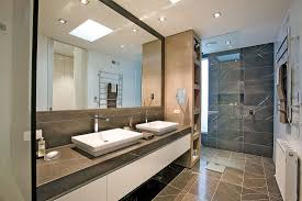 bathroom 2017 masculine black accent on wide tile wall and big