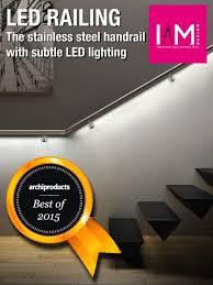 corrimano luminoso iam design led railing miglior prodotto 2015 ind i a spa