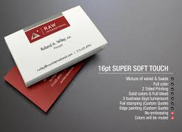 Stamped Business Card Los Angeles Soft Touch Business Card Printing Soft Touch