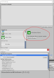 Make For Windows by Build Settings For Windows Store Module Not Available Unity 5 3