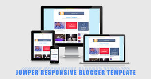 jumper responsive mobile and seo friendly blogger templates