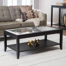 glass top coffee table with storage shelby glass top coffee table with quatrefoil underlay walmartg room