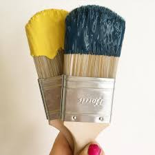 Papiers Peints Farrow And Ball Hague Blue Babouche Yellow Farrow And Ball Peintures Papier