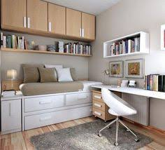 small bedroom for kids with study table and small lampshade