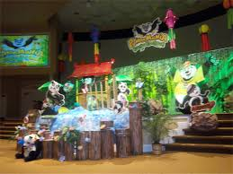 Vbs Decorations Pandamania Church Stage Design Ideas