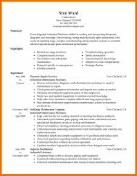 maintenance mechanic resume sample maintenance resume template
