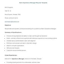 Operations Manager Resume Template Sample Bank Manager Resume U2013 Topshoppingnetwork Com