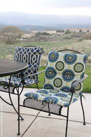Black Rod Iron Patio Furniture Decor Make Your Own Reversible Patio Chair Cushions For Endearing