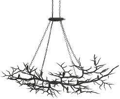 Twig Light Fixtures Rainforest Chandelier Lighting Currey And Company