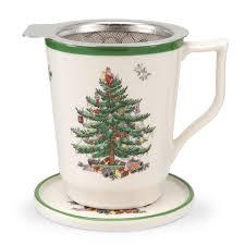 spode christmas tree tisaniere spode uk