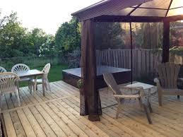 exterior design simply hardtop gazebo plus wooden floor for bbq