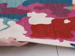 Modern Abstract Rugs Holi Multi Colour Splash Wool Kilim Rug