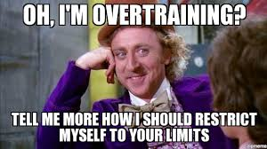 Willy Wonka Tell Me More Meme - willy wonka oh i m overtraining tell me more how i should
