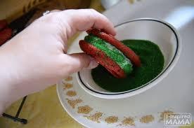 easy red velvet christmas cookie sandwiches
