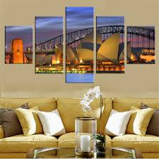 home decor sydney unframed oil painting harbour bridge canvas prints sydney night