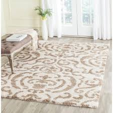 7 x 7 area rugs safavieh florida shag gray beige 5 ft 3 in x 7 ft 6 in area