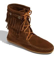 minnetonka womens boots size 11 minnetonka trer fringe moccasin boot nordstrom