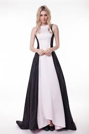 classic white and black a line formal dress evening gowns