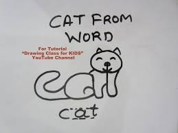 tutorial youtube word youtube cat from word cat search drawing class for kids youtube