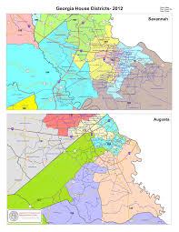 Augusta Ga Map Maps Georgia House Districts Savannah And Augusta General